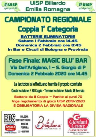 Campionato regionale a coppie di prima categoria
