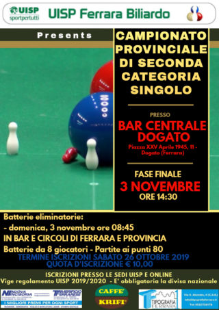 Campionato provinciale singolo di seconda categoria