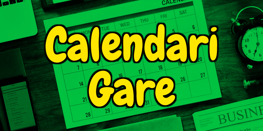 Calendari gare 2021/2022