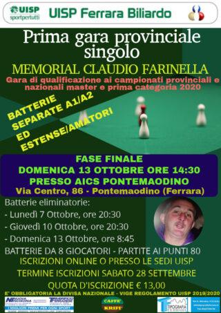 "Prima gara provinciale singolo memorial ""Claudio Farinella"""