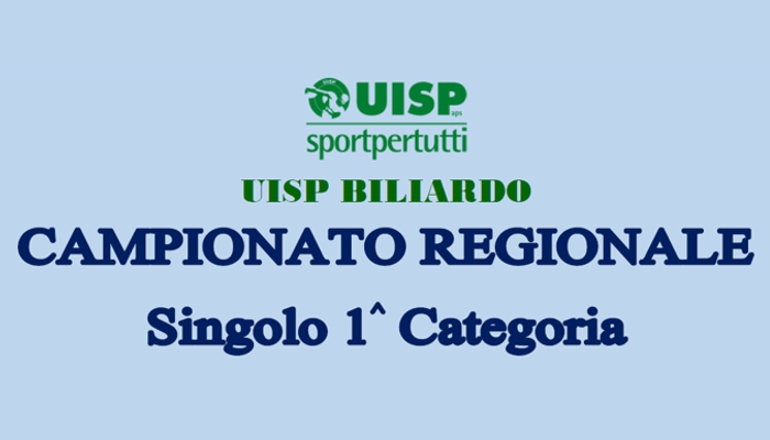 Campionato Regionale Singolo 1^ Categoria